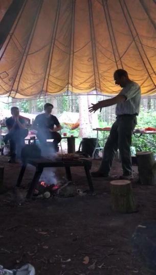 Bushcraft storytelling blurred
